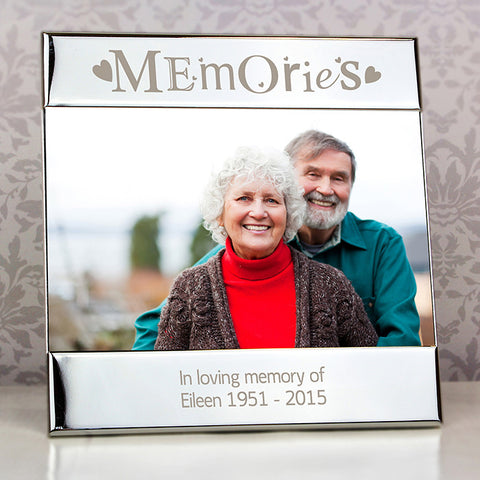 Buy Personalised Silver Memories Square 6x4 Photo Frame