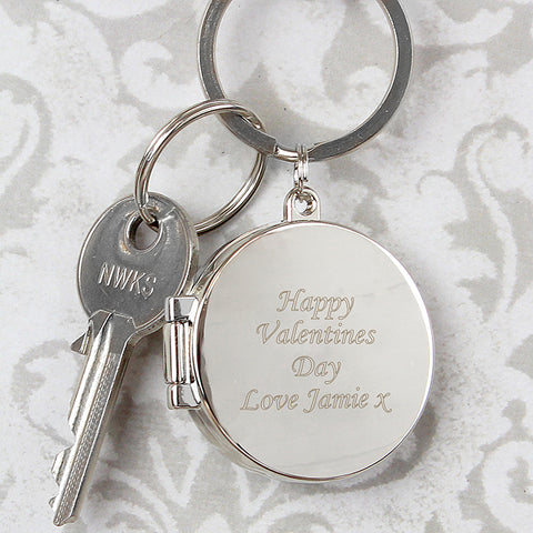 Buy Personalised Round Photo Keyring