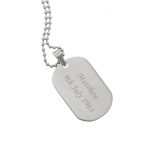 personalised-stainless-steel-dog-tag-necklace