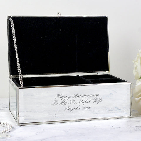 Buy Personalised Any Message Mirrored Jewellery Box