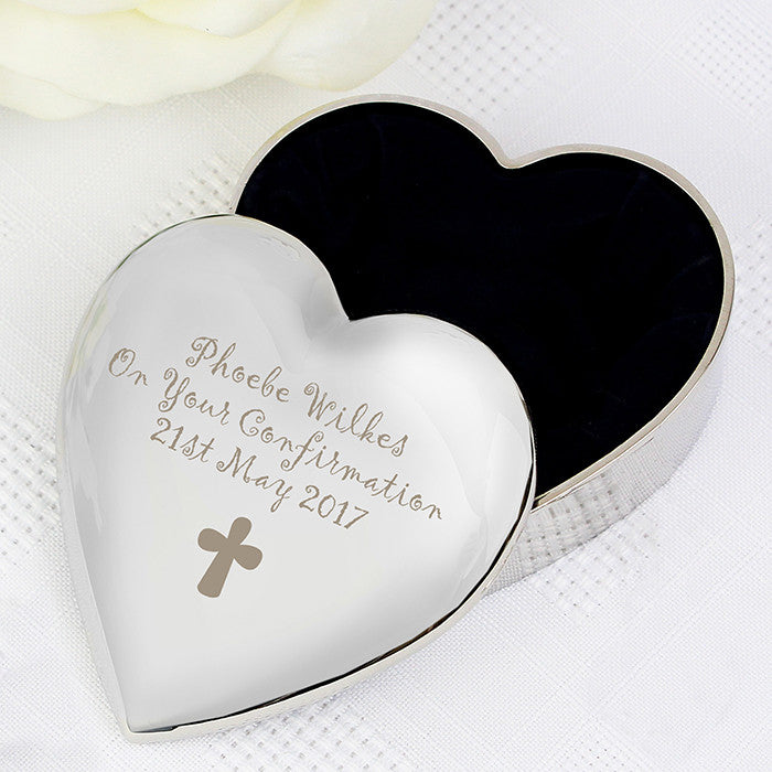 Personalised Cross Heart Trinket Box, Health & Beauty by Low Cost Gifts