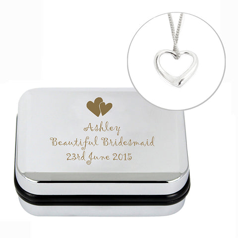 Buy Personalised Heart Necklace and Box