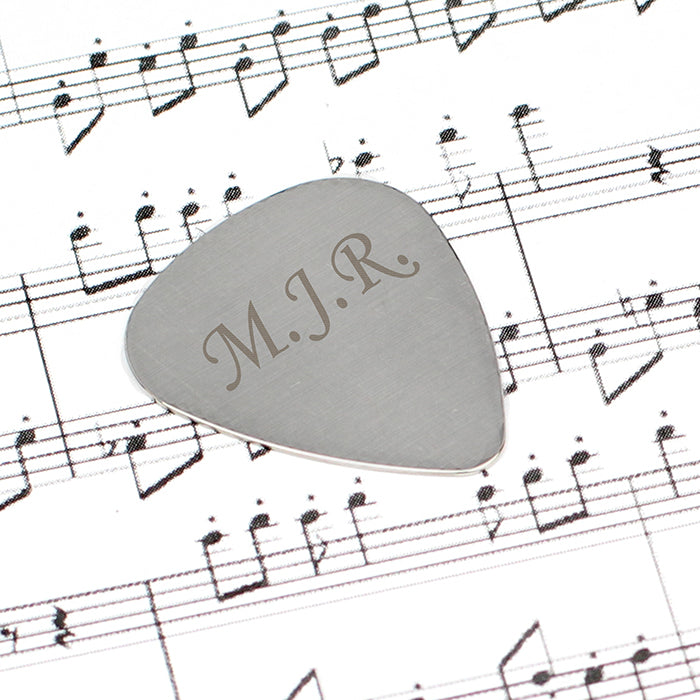 Personalised Initials Silver Plectrum, Musical Instrument & Orchestra Accessories by Gifts24-7
