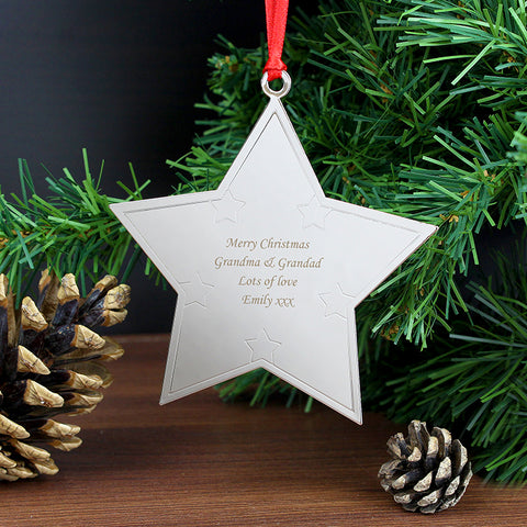 Buy Personalised Star Tree Decoration