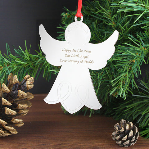 Buy Personalised Angel Tree Decoration