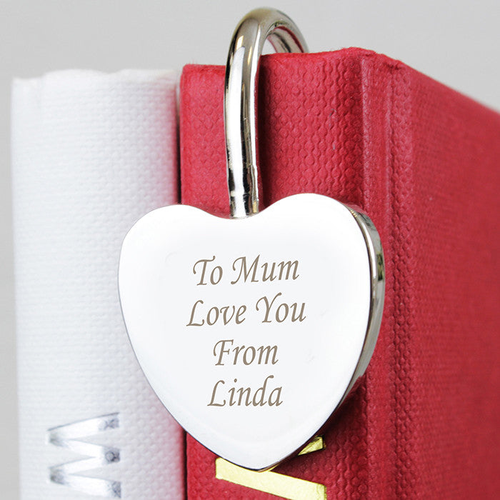 Personalised Silver Heart Bookmark, Office Supplies by Low Cost Gifts