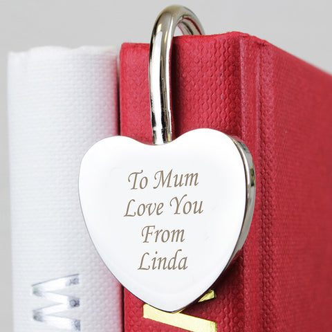 Buy Personalised Silver Heart Bookmark