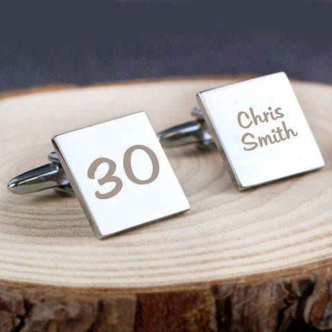 Personalised Big Age Cufflinks | ShaneToddGifts.co.uk