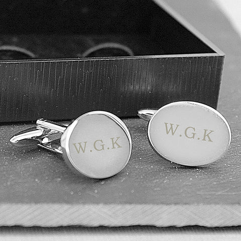 Buy Personalised Oval Cufflinks