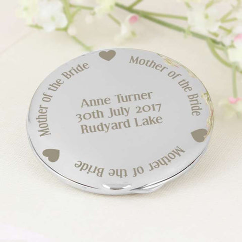 Personalised Mother of the Bride Compact Mirror - Shane Todd Gifts UK