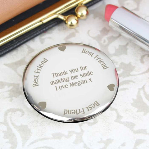 Personalised Best Friend Compact Mirror | ShaneToddGifts.co.uk