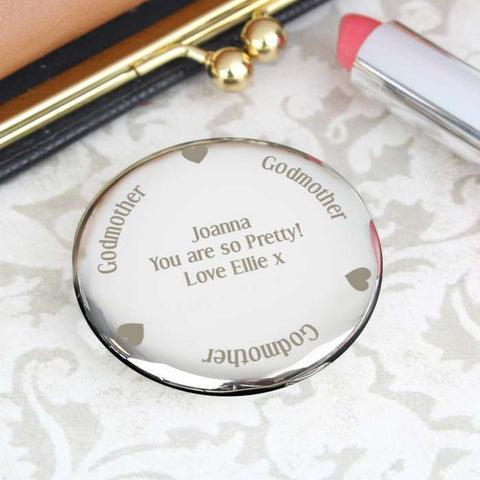 Buy Personalised Godmother Compact Mirror