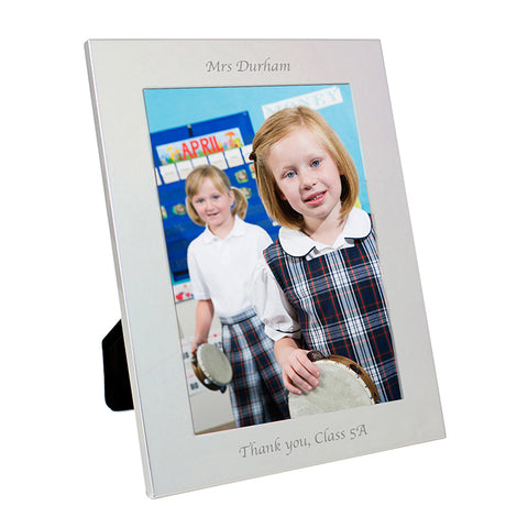 Buy Personalised Silver 5x7 Photo Frame