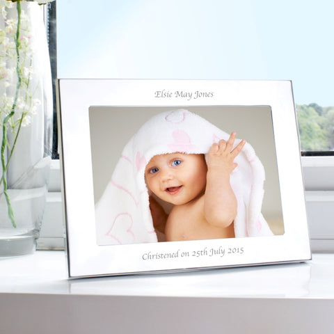 Buy Personalised Silver 7x5 Landscape Photo Frame