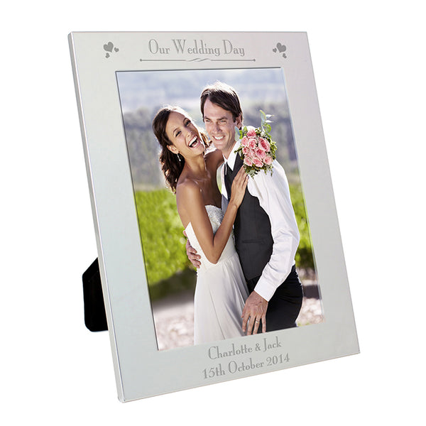personalised-silver-5x7-decorative-our-wedding-day-photo-frame