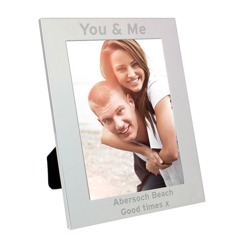 Buy Personalised Silver 5x7 Bold Style Photo Frame