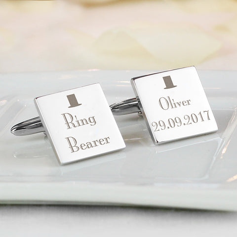 Buy Personalised Decorative Wedding Any Role Square Cufflinks