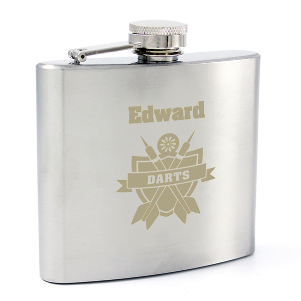 personalised-darts-hip-flask