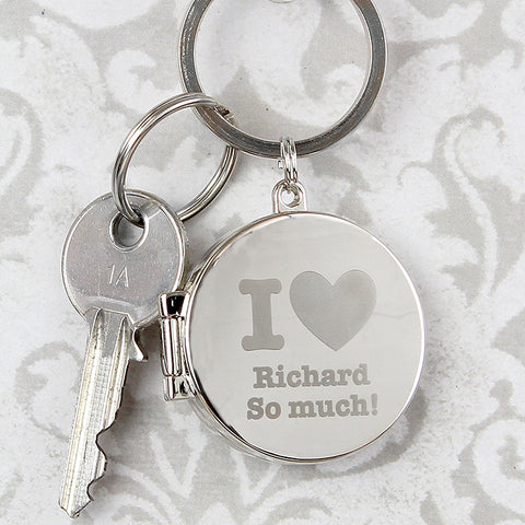 Buy Personalised I heart Photo Keyring