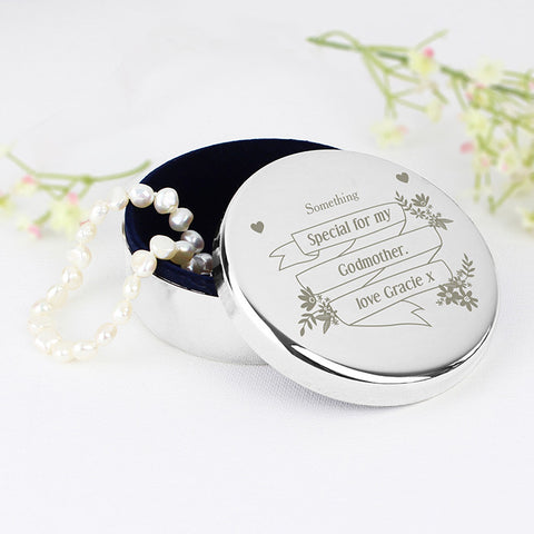 Buy Personalised Garden Bloom Round Trinket Box