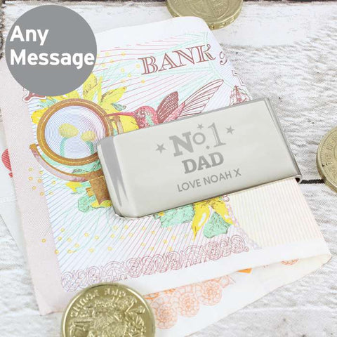 Buy Personalised No.1 Money Clip