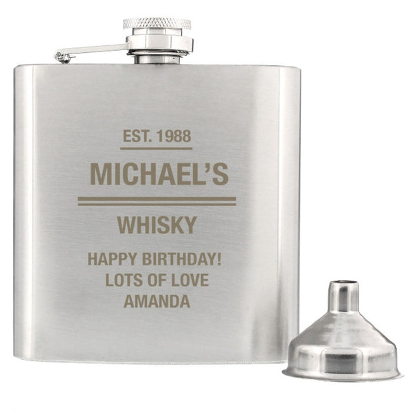 personalised-any-message-stainless-steel-hip-flask