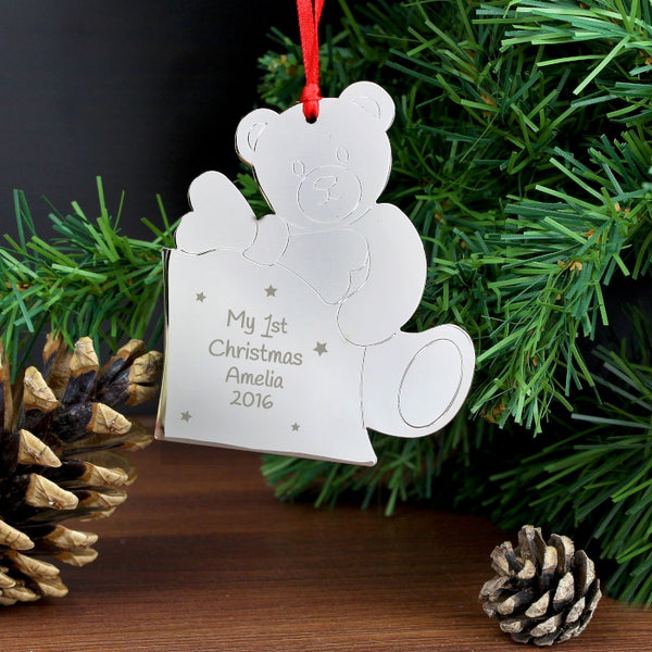 Buy Personalised Teddy My 1st Tree Decoration