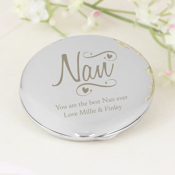 personalised-nan-swirls-hearts-compact-mirror