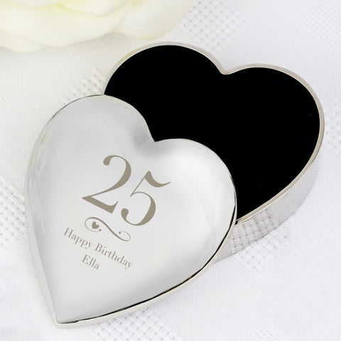 Buy Personalised Big Age Heart Trinket Box