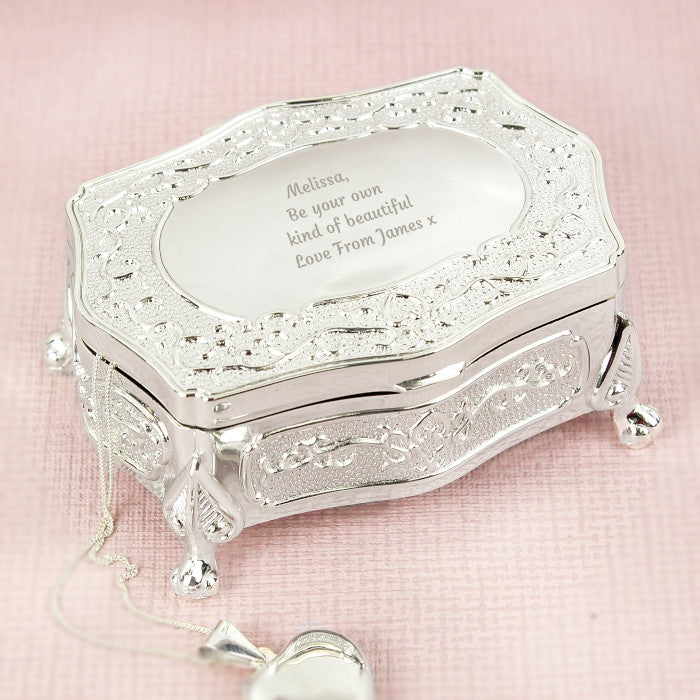 Personalised Any Message Small Antique Trinket Box - Shane Todd Gifts UK