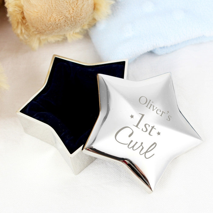 Personalised 1st Curl Star Trinket - Shane Todd Gifts UK