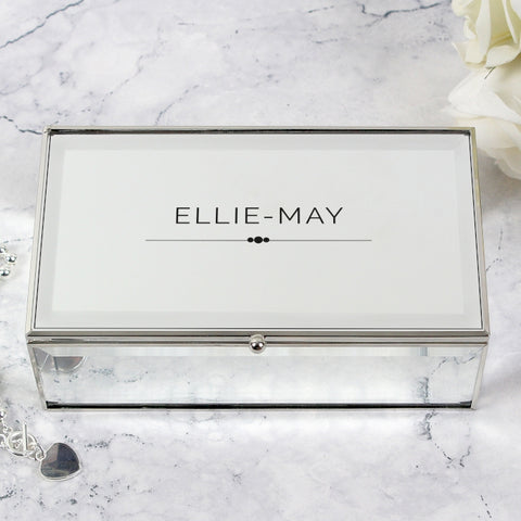 Personalised Classic Mirrored Jewellery Box - Shane Todd Gifts UK