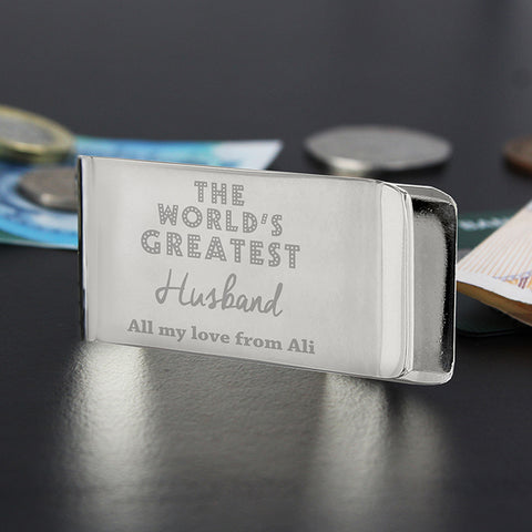 Personalised 'World's Greatest' Money Clip | ShaneToddGifts.co.uk
