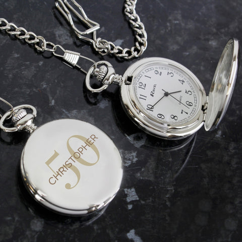 Personalised Big Age Pocket Fob Watch