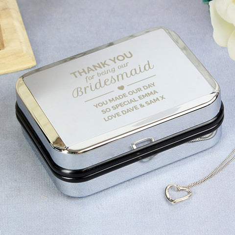 Buy Personalised Birdesmaid Box and Heart Necklace