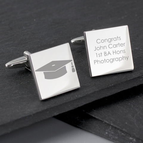 Buy Personalised Graduation Square Cufflinks