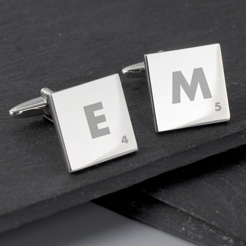 Buy Personalised Initials and Age Square Cufflinks