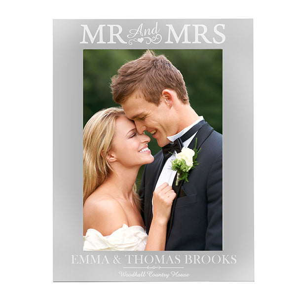 personalised-silver-mr-mrs-5x7-photo-frame
