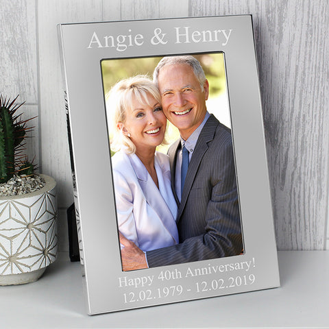 Buy Personalised 6x4 Silver Photo Frame