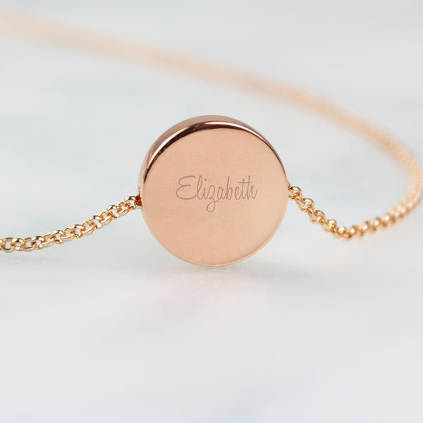 personalised-any-name-rose-gold-tone-disc-necklace