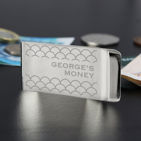 Personalised Shell Pattern Money Clip