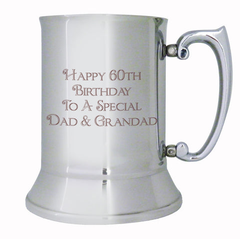 Personalised Bold Message Stainless Steel Tankard - Shane Todd Gifts UK