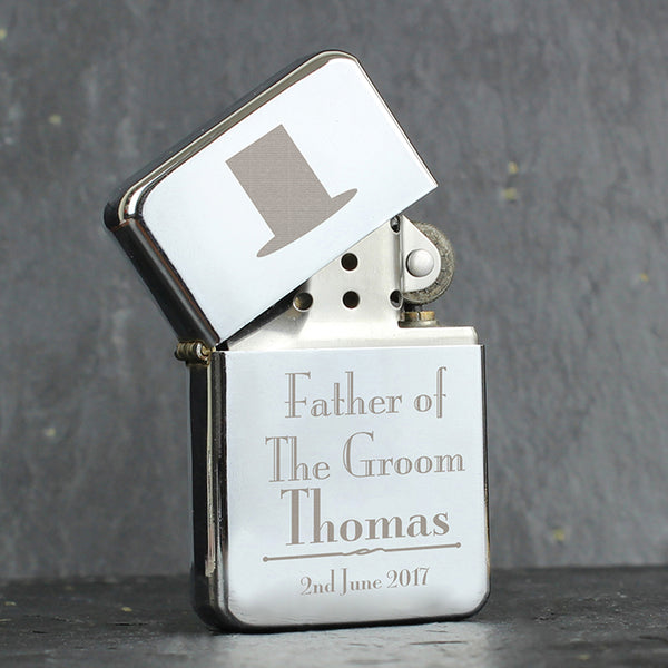 Personalised Decorative Wedding Father of the Groom Lighter