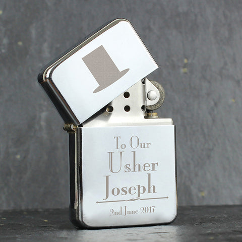 Buy Personalised Decorative Wedding Usher Lighter