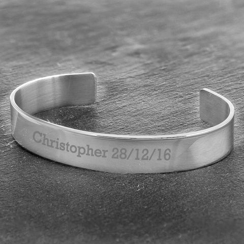 Buy Personalised Stainless Steel Bangle