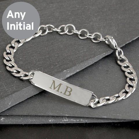 Buy Personalised Initial Stainless Steel Unisex Bracelet