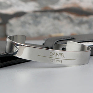 Personalised Classic Stainless Steel Bangle
