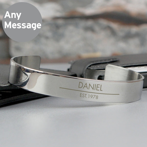 personalised-classic-stainless-steel-bangle