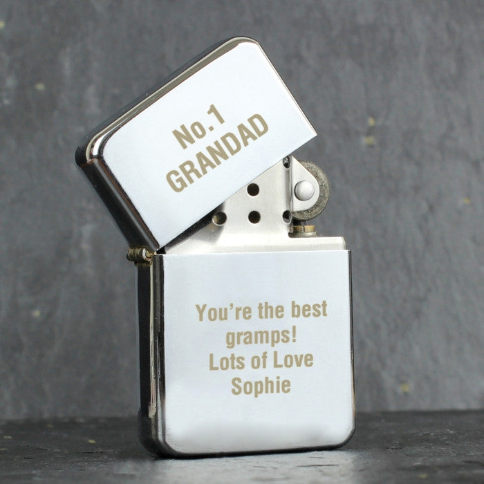 Personalised Silver Lighter - Shane Todd Gifts UK