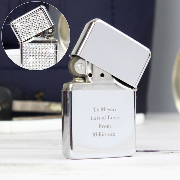 Buy Personalised Any Message Diamante Lighter